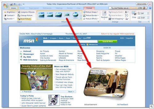 MSN with Office 2007 Ad