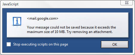 Gmail Attachment Size