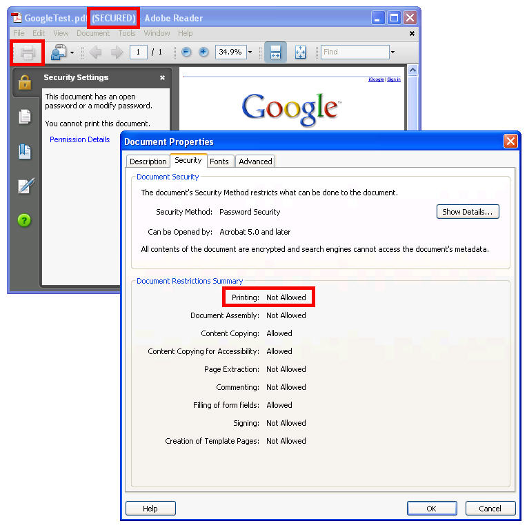 How to Print Password Secured PDF Files