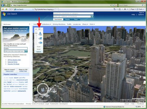 Virtual Earth 3D in New York City