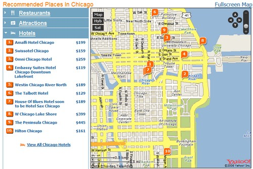 Yahoo Travel Redesigns Site Just in Time for Summer – Top Tourist Attractions Map In Chicago