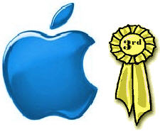 Apple third place