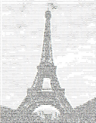 ASCII Eiffel Tower