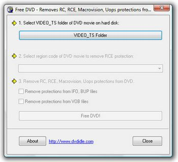 FreeDVD Copy Protection Remover