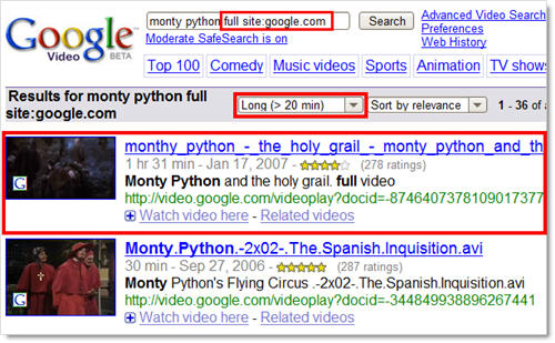 Google Video Search
