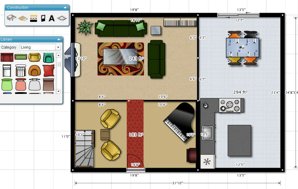 Cybernotes create a floorplan with for Www floorplanner