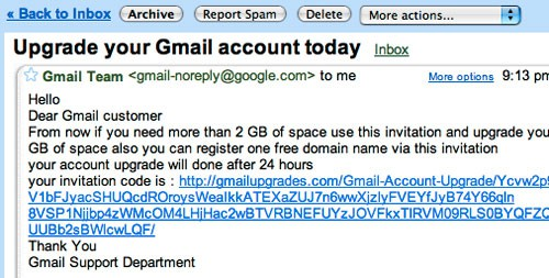 Gmail scam