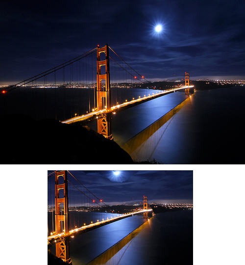 Golden Gate Bridge Image Scalling