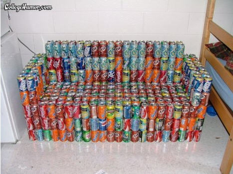 Pop can couch