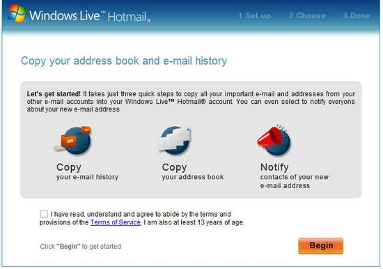 Trueswitch: Transfer Email Account to Hotmail