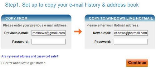 Switch to Hotmail Account - Step 1