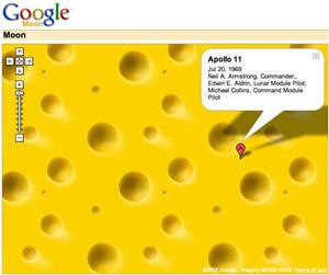 google moon cheese