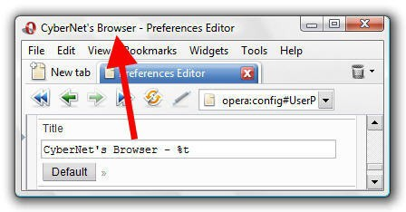 Opera Change Browser Name