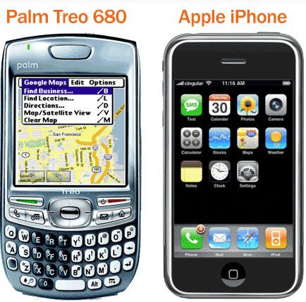 palm vs iphone