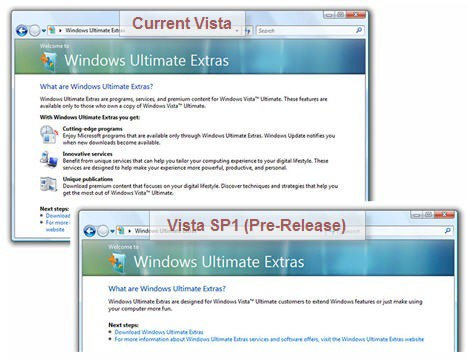 Vista Ultimate Extras