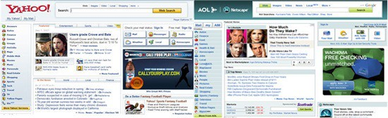 yahoo netscape comparison