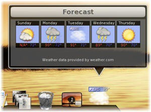 Awn Weather Applet