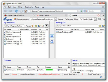 Gspace File Storage