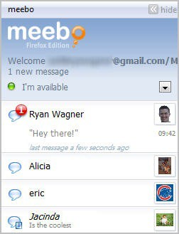 meebo messages