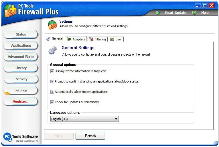 firewall settings: