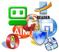 Roboform CCleaner Foxit AIM Maxthon Comodo Opera UltraVNC Logos Icons