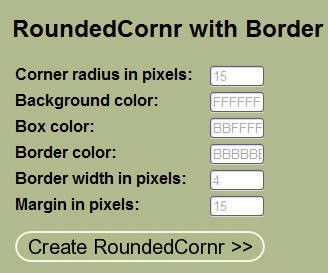 rounded corner with border