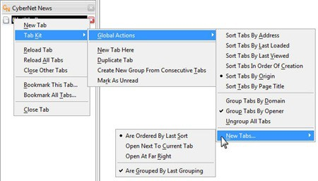 Tab Kit Context Menu