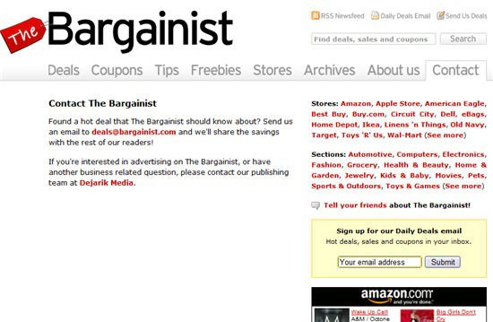 the bargainist