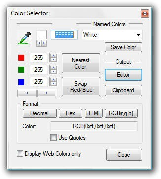 UltraEdit Color Selector