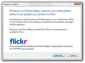 WLPG Authorize Flickr