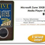 Woot does it Again … 30GB Brown Zune for $80!