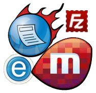 FeedDemon Miro FileZilla Logos Icons