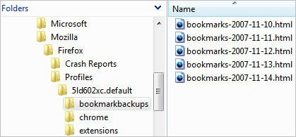 Firefox Bookmarks Backup