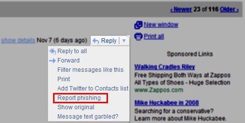 Gmail Report Phishing