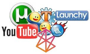 YouTube Utorrent Trillian TweakVista Launchy Logos Icons