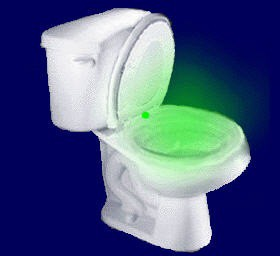 light up toilet