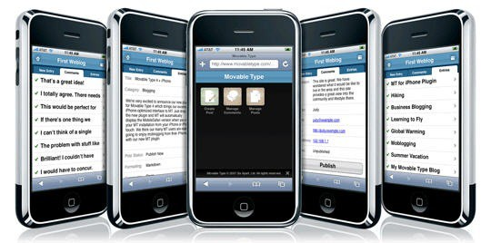 Movable Type iPhone