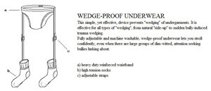 wedge proof underwear