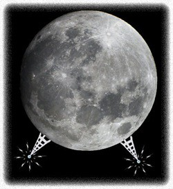 cell tower on moon