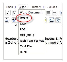 docx support
