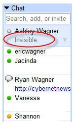invisible gmail chat