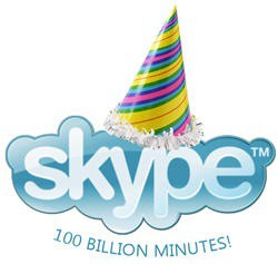 skype 100 billion minutes