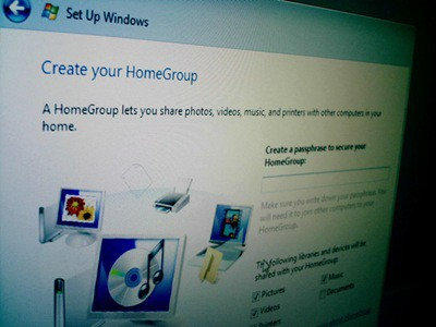 Windows 7 HomeGroup