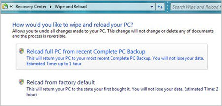 Windows 7 Wipe Restore
