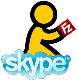 aim skype filezilla logos icons