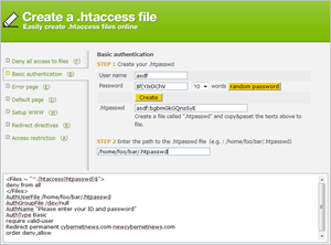 htaccess creator