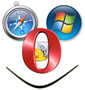 safari vista opera logos icons