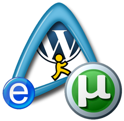 wordpress abiword utorrent aim logos icons