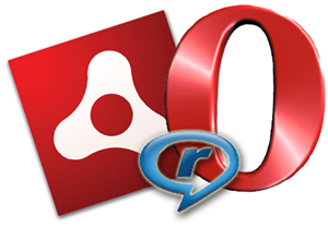 adobe real opera logos icons