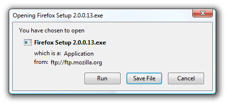 firefox open run download